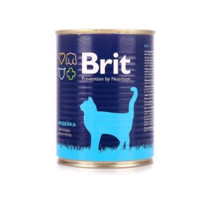 Брит 29402 консервы для кошек Индейка 340г