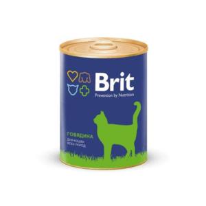 Брит 29457 консервы для кошек Говядина 340г