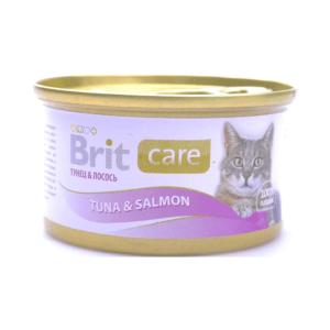 Брит Care 100060 консервы для кошек Тунец и Лосось 80г