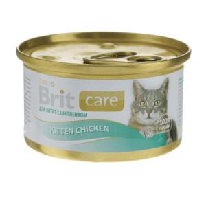 Брит Care 100061 консервы для котят Цыпленок 80г