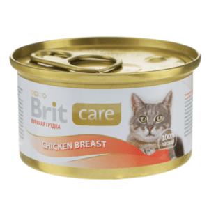 Брит Care 100064 консервы для кошек Куриная грудка 80г