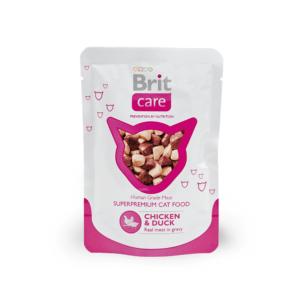 Брит Care 100121 пауч для кошек Курица и Утка 80г