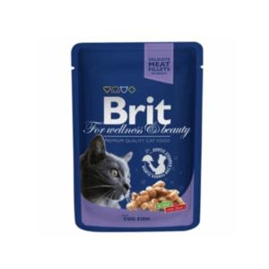 Брит Premium 06002 пауч для кошек Треска 100г