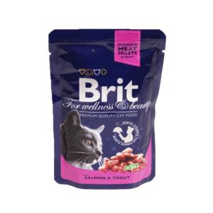 Брит Premium 06286 пауч для кошек Лосось и форель 100г