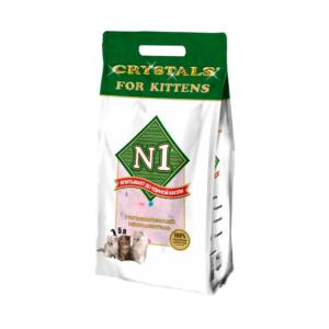 №1 Crystals For Kittens Наполнитель д/котят силикагелевый 5л