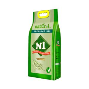 №1 Naturel зеленый чай Наполнитель древесный комкующийся 4,5л