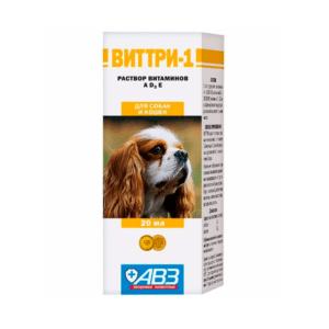 АВЗ Виттри-1 раствор витаминов А,D3,E  д/собак и кошек 20мл