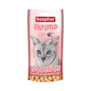 Беафар 10575 Лакомство д/кошек шарики с креветками 80шт
