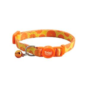 """Триол 21261008/HL25 Ошейник нейлоновый д/кошек """"Апельсин"""", 10*210-330мм"""