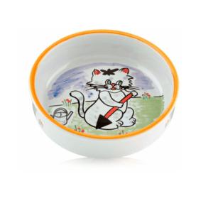 Beeztees 651030 Миска д/кошек фарфоровая с изображением кошки 275мл*14см
