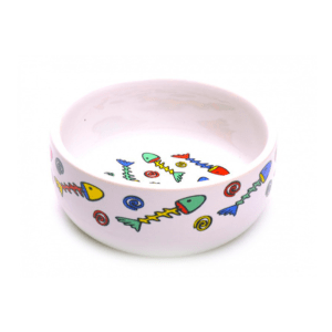 Beeztees 651052 Миска д/кошек фарфоровая с цветными рыбками 325мл*11см
