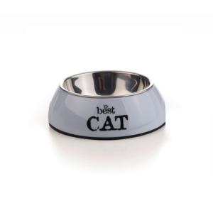 Beeztees 650400 Best Cat Миска 2в1 д/кошек серая 160мл*14,5*4,5см