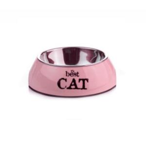 Beeztees 650402 Best Cat Миска 2в1 д/кошек бордовая 160мл*14,5*4,5см