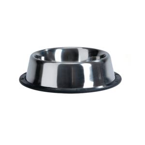Beeztees 640432 Миска стальная хромированная нескользящая 450мл*16,5см