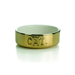 Beeztees 405219 Миска д/кошек керамическая золотая 200мл*11,5*4см