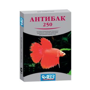 АВЗ Антибак 250 антимикробный препарат для лечения бактериальных болезней аквариумных рыб 6таб